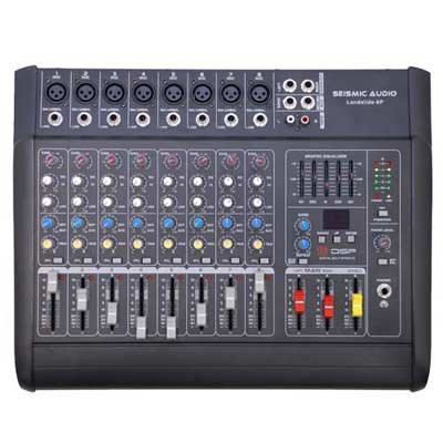 Seismic Audio - LandSlide-8P - 8 Channel DSP Professional Powered Mixer - Power by Seismic Audio