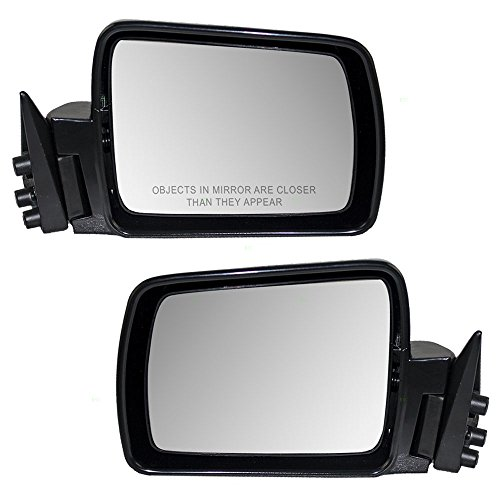 Driver and Passenger Manual Side View Mirrors Replacement for Jeep SUV 55034131 55007818 AutoAndArt