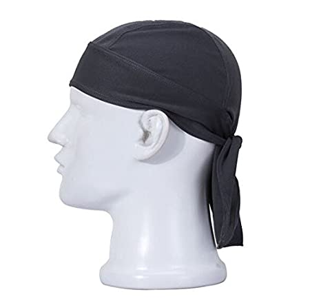 Urparcel High-performance Dew Rag Outdoor Riding Hoods Cooling Skull Cap Black