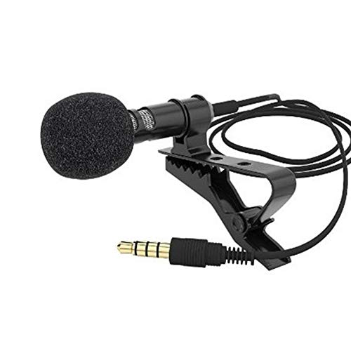 Ebeauty Mini Microphone for Bloggers LAPE Hands Free Computer Clip for Samsung Android Windows Smart Phones Black