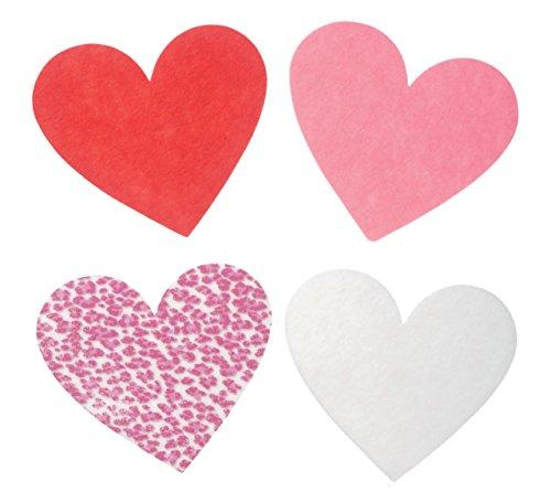 Shaped Felt (Darice FLT-2001 16Piece, Felties Felt Bases, Assorted Color Hearts)