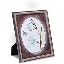 FFYYEE Retro Nostalgia- Wood Picture Frame F76C-4 (8X10, Dark Brown)