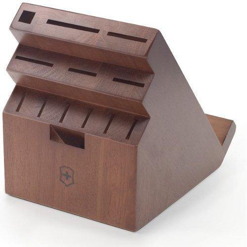 Victorinox Swiss Army Swivel Universal Knife Block, Dark Wood [並行輸入品]   B016PU8DZC