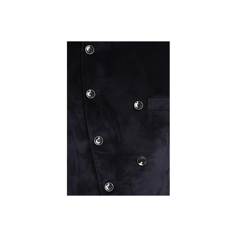 418PiJb1uKL. SS768  - Wintage Men's Velvet Grandad Collar Blazer