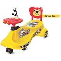 Goyal's Kartoon Magic Car, Ride-on Toy - Yellow