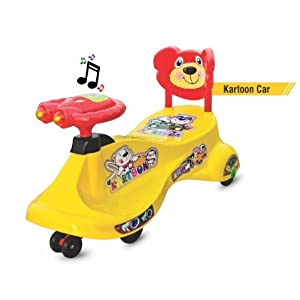 Goyal's Kartoon Magic Car, Ride-on Toy – Yellow