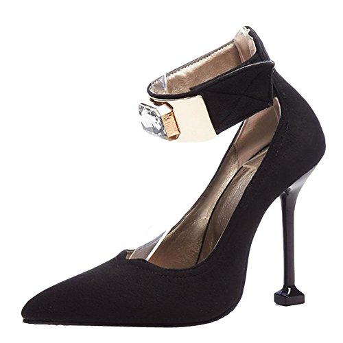 MissSaSa Scarpe Elegante Tacco Col Donna Nero Alto UgwqU1S