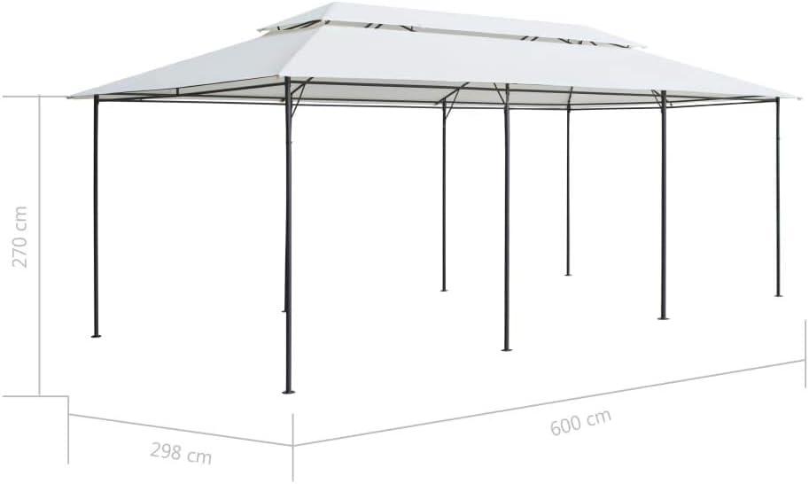 vidaXL Cenador con Cortinas Blanco 600x298x270cm Carpa para Fiestas Eventos: Amazon.es: Hogar