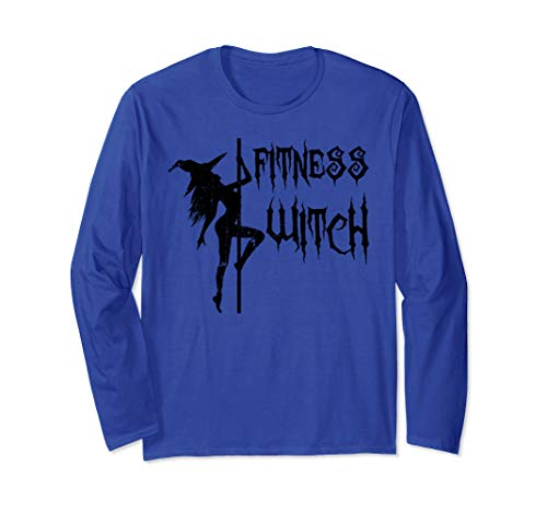 Fitness Witch Funny Halloween Long Sleeve T-Shirt