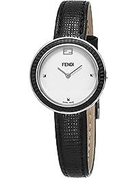 Fendi Women's 'MyWay' Swiss Quartz Stainless Steel and Black Leather Dress Watch (Model: F352024011)