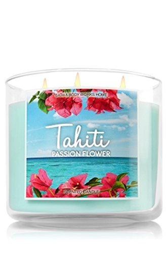 bath and body works 14 5 oz 3 wick candle tahiti passionflower candles store. Black Bedroom Furniture Sets. Home Design Ideas