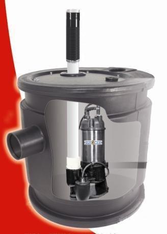 - BurCam 401450 Sewage System, 1/2 hp, 115V, 24