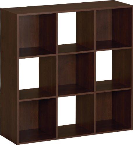 Ameriwood SystemBuild 9 Cube Storage Cubby Bookshelf in Resort