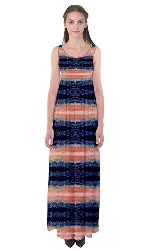 Cowcow Strisce Vestito Arancioni Womens Arancioni Strisce Dell'impero Vita Maxi Xltall dPq5wtwn