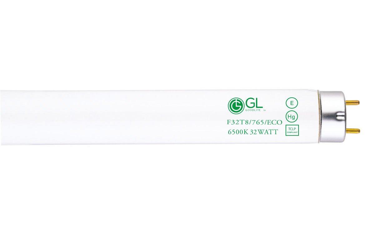 Goodlite G-20251 F32T8/765/ECO Straight 32 Watt 48-Inch Inch T8 Fluorescent Tube Light Bulb Daylight 6500k (30 Pack) by Goodlite