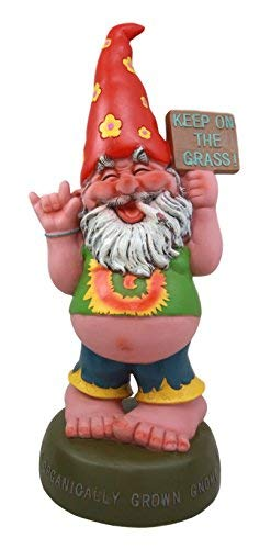 (Atlantic Collectibles Happy High Hippie Gnome Organically Grown Grass Statue Patio Outdoor Poolside Figurine 10.5'H)