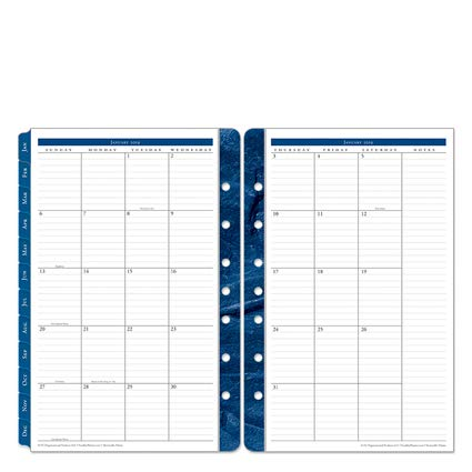 Classic Monticello Two Page Monthly Ring-Bound Tabs - Jan 2019 - Dec ()