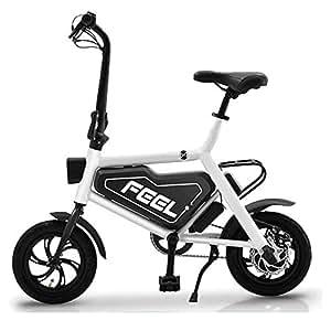 Bicicleta Eléctrica Plegable para Adultos De 12 Pulgadas, Batería De Litio De 36 V para Hombres Y Mujeres para Ayudar A Bicicletas con Batería Plegable,White