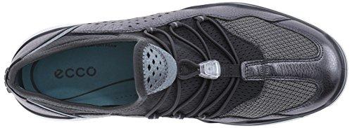 Dark Zapatillas Deportivas Para Shadow ECCO Metallic Interior Eccoecco Lynx Negro Titanium59528 Mujer 8n66WHSx
