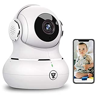 Indoor Wireless Security Camera,Littlelf Smart 1080P Home WiFi IP Camera for Pet/Baby/Elder Monitor with Motion Detection/Tracking, 2-Way Audio, Night Vision and Cloud Storage, Works with Alexa