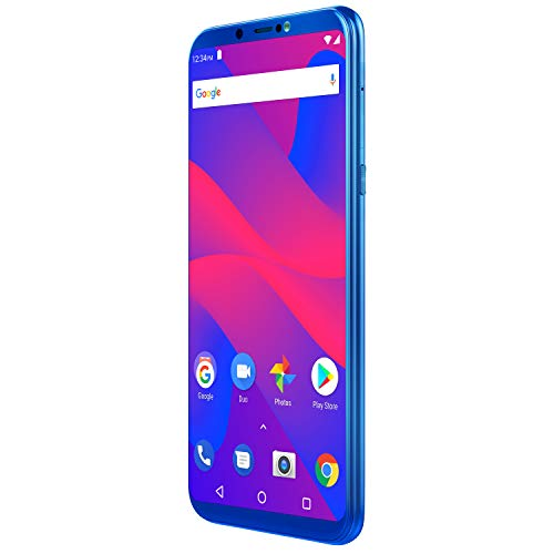 "BLU Studio Mega 2018-6.0"" HD Unlocked Smartphone with Dual Main Camera -Blue"