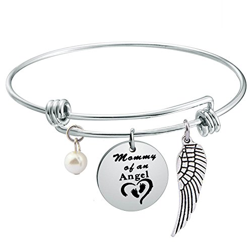 Gzrlyf New Mama Gift Mommy of an Angel Bracelet Mother Jewelry (Mommy Bracelet)