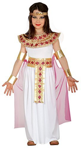 Girls Pink Cleopatra Ancient Egyptian Queen Goddess Ruler Fancy Dress Costume Outfit 5-12 yrs (5-6 Years)