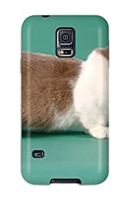 CATHERINE DOYLE's Shop Slim Fit Tpu Protector Shock Absorbent Bumper Munchkin Cats Case For Galaxy S5