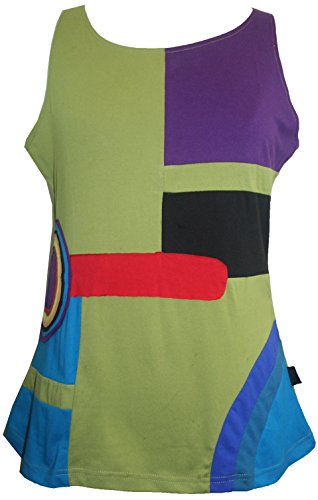 Price comparison product image RT 828 Agan Traders Knit Cotton Tank Top Blouse (Large, Multi 2)