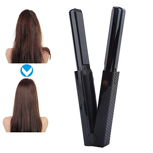 Cordless Mini Hair Straightener, Rechargeable Battery Operated Hair Straightener 3200mAh,2 in 1 Cordless Flat Iron and Curling Hair Portable for Dating,Meeting,Traveling,Camping etc