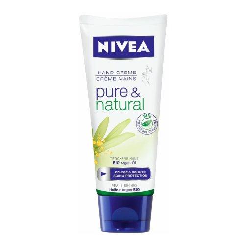 3x je 100ml Nivea Handcreme Pure&Natural , Pflege & Schutz für trockene Haut/Pflege für die Hände
