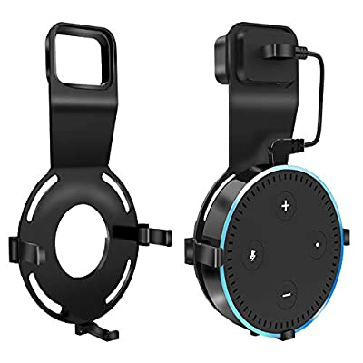 SpyGear-Echo Dot Wall Mount, Alexa Accessories Smart Home Outlet Wall Mount Stand for Amazon Echo 2nd Generation Speaker Holder with Charging Cord Cable - OfsPower