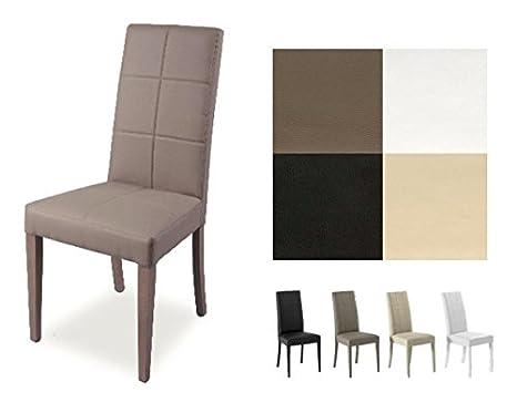 Sedie Sala Da Pranzo Ecopelle : Zstyle sedia lory in ecopelle similpelle e legno cucina sala da