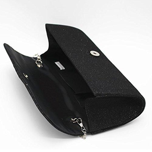 YYW Evening Bag - Cartera de mano para mujer negro