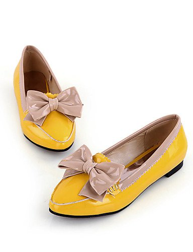 Vestido us10 Trabajo Uk6 Patentado N Cuero Yellow 5 Y Bailarina Cn43 Amarillo Uk8 Eu39 Plano Eu42 Yyz De Yellow Mujer Comfort Zq 5 us8 Casual Zapatos Planos Tac Cn39 Oficina negro CaOqwnR7