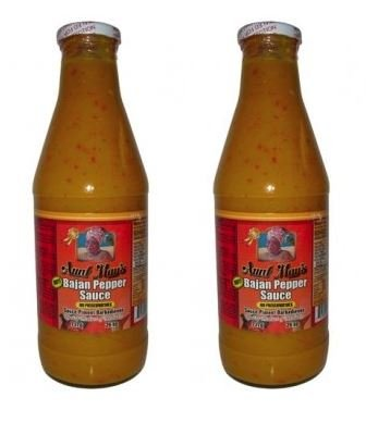 Aunt Mays Bajan Pepper Sauce Hot 26 oz (Pack of 2)