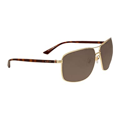 491f2874b70 Amazon.com  Gucci Men GG0065SK 66 Gold Green Sunglasses 66mm  Clothing