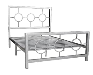 silver bed frame queen home source industries 13161 metal bed 5212