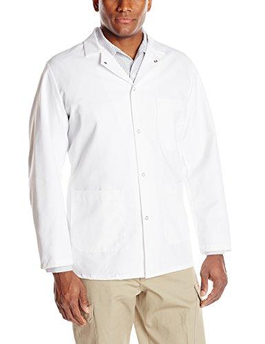 Red Kap Men's Gripper-Front Short Butcher Coat, White, 2X-Large by Red Kap