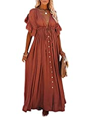 Bsubseach Women Sexy See Through Open Front Swimsuit Beach Long Kimono Cover Ups