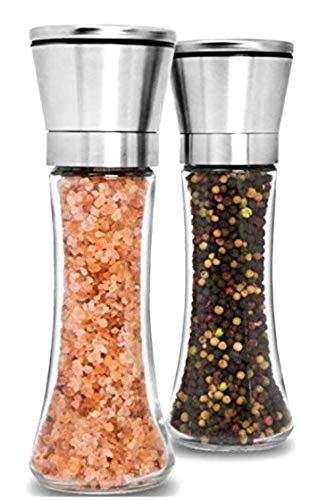 Premium Stainless Steel Salt and Pepper Grinder Set of 2