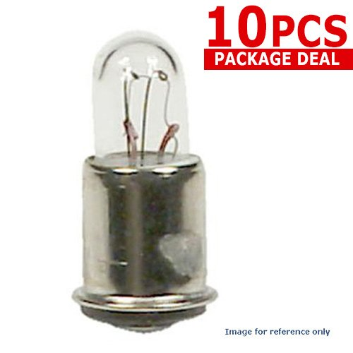 GE 327 1w 28v T1.75 327 Low Voltage Aircraft Bulb x10 ()