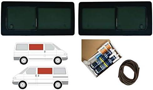 Mano izquierda y derecha, tintado oscuro apertura ventana doble para Volkswagen Transporter T4 (1990 – 2003): Amazon.es: Coche y moto