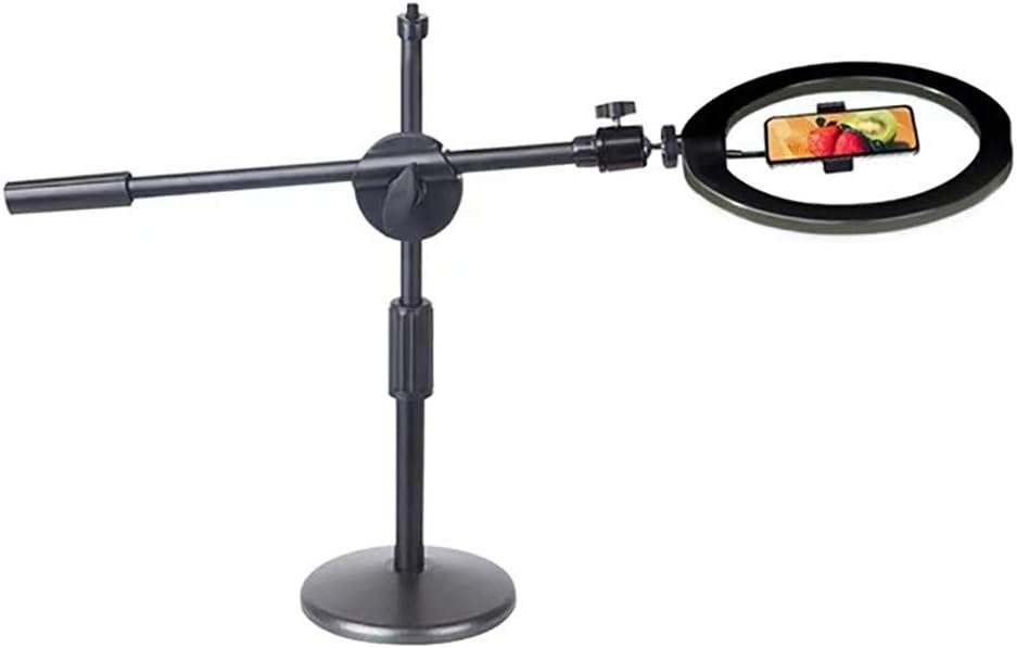 Color : Black Nai-tripod Anillo del tel/éfono m/óvil de Arriba Stand Escritorio Clase por Internet Soporte Auto-Temporizador de luz de Relleno tr/ípode Regulable Fotograf/ía Luz