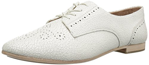 FRYE Women's Terri Perf Oxford Flat, White, 6 M US by FRYE