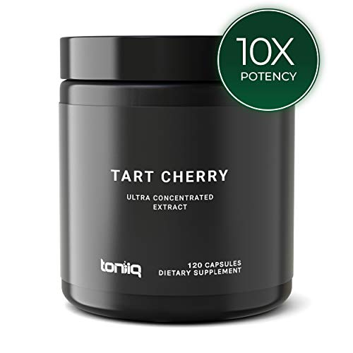 Ultra High Strength Tart Cherry Capsules – 10,000mg 10x Concentrated Extract – The Strongest Tart Cherry Supplement Available – 120 Capsules