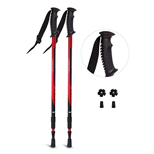 Camping & Hiking T Handle Telescopic Black Walking Sticks Folding Aluminum Alloy Trekking Hiking Poles 4 Feet With Led Light Reliable Performance