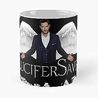 Lucifer Morningstar Tom Ellis Devil Bestes 11 Unze-Keramik-Kaffeetasse Geschenk