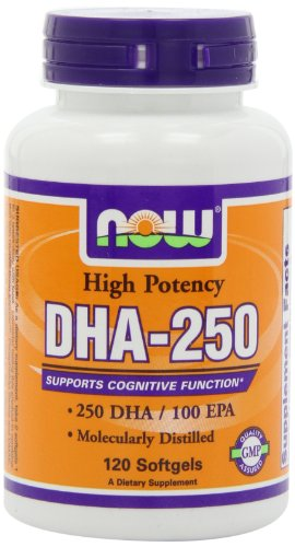 NOW Foods DHA 250 120 Softgels