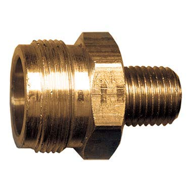 Fairview Fittings 2096 Cylinder Primus By Male Pipe 1-20 Male Cyl, M14X1.5 X 1/4 Npt With Check Pack of 2 (Cylinder Primus)